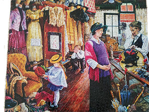 1000 piece Jigsaw puzzle completed