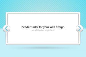 Header slider for your web design
