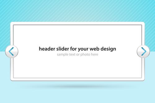 Header slider for your web design